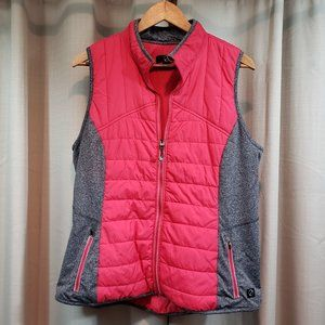 TRIBAL Red & Gray Large Athletic Puffer Vest